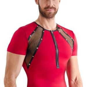 Shirt aus Mikrofaser mit Netz-Einsätzen