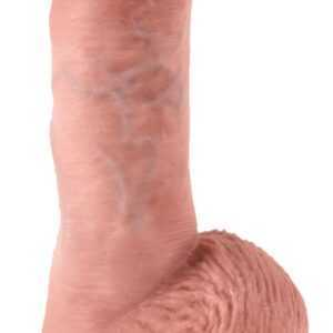 "Vibrator ""8"" Vibrating Cock with Balls"""