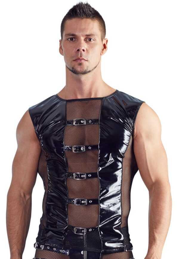 Shirt aus bi-elastischem Lack