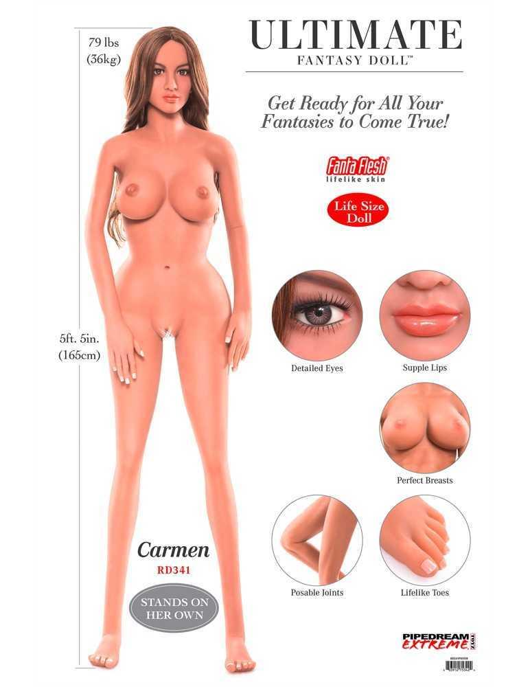 "Liebespuppe ""Ultimate Fantasy Doll Carmen"", lebensecht, 3 Öffnungen"